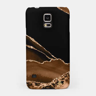 Thumbnail image of Faux Desert Brown Marbled Agate Contemporary Stone Samsung Case, Live Heroes