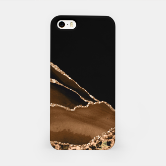 Thumbnail image of Faux Desert Brown Marbled Agate Contemporary Stone iPhone Case, Live Heroes