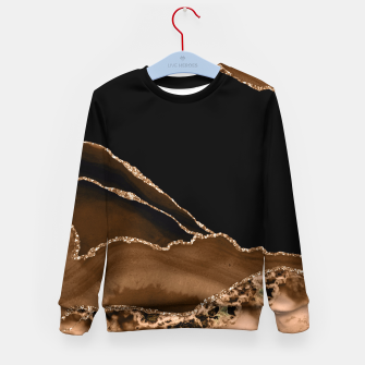 Thumbnail image of Faux Desert Brown Marbled Agate Contemporary Stone Kid's sweater, Live Heroes