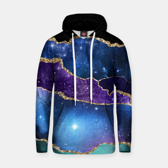 Miniatur Faux Marbled Agate Stone Galaxy Sparkly Shining Stars Hoodie, Live Heroes