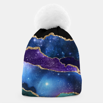 Miniatur Faux Marbled Agate Stone Galaxy Sparkly Shining Stars Beanie, Live Heroes