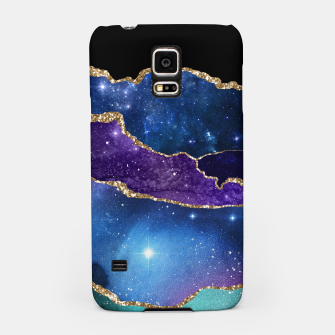 Miniatur Faux Marbled Agate Stone Galaxy Sparkly Shining Stars Samsung Case, Live Heroes