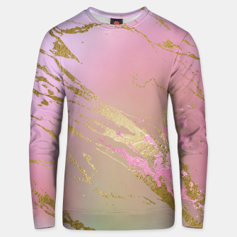 Miniaturka Marble Purple Pink Pastel Color Golden Glitter Girly Luxury Unisex sweater, Live Heroes