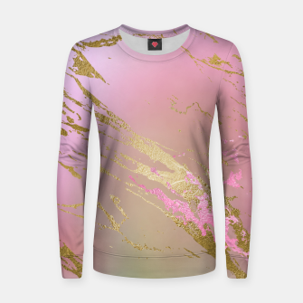 Miniaturka Marble Purple Pink Pastel Color Golden Glitter Girly Luxury Women sweater, Live Heroes