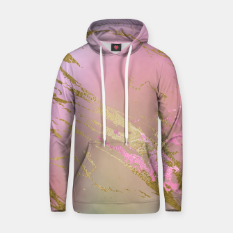 Miniaturka Marble Purple Pink Pastel Color Golden Glitter Girly Luxury Hoodie, Live Heroes