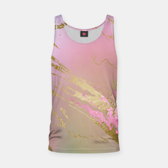 Miniaturka Marble Purple Pink Pastel Color Golden Glitter Girly Luxury Tank Top, Live Heroes
