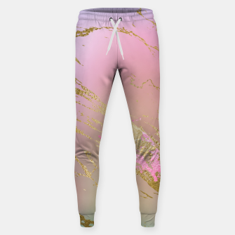 Miniaturka Marble Purple Pink Pastel Color Golden Glitter Girly Luxury Sweatpants, Live Heroes