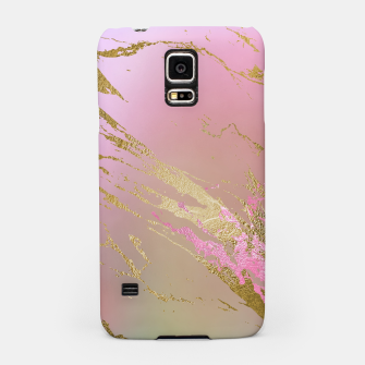 Miniaturka Marble Purple Pink Pastel Color Golden Glitter Girly Luxury Samsung Case, Live Heroes