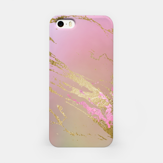 Miniaturka Marble Purple Pink Pastel Color Golden Glitter Girly Luxury iPhone Case, Live Heroes