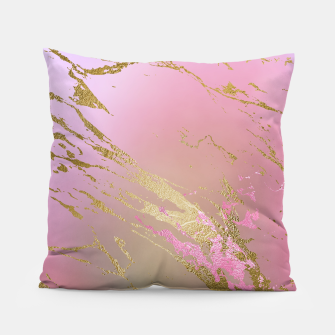 Miniaturka Marble Purple Pink Pastel Color Golden Glitter Girly Luxury Pillow, Live Heroes
