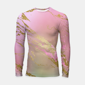 Miniaturka Marble Purple Pink Pastel Color Golden Glitter Girly Luxury Longsleeve rashguard , Live Heroes