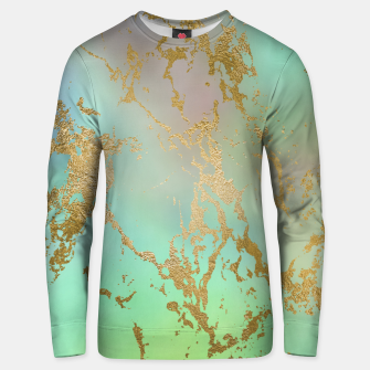 Thumbnail image of Marble Pastel Green Purple Golden Glitter Trendy Glam Unisex sweater, Live Heroes