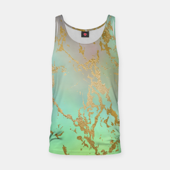 Miniaturka Marble Pastel Green Purple Golden Glitter Trendy Glam Tank Top, Live Heroes