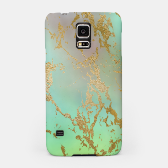 Thumbnail image of Marble Pastel Green Purple Golden Glitter Trendy Glam Samsung Case, Live Heroes