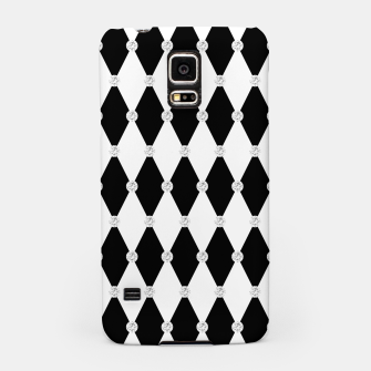 Thumbnail image of Harlequin Black White Rhombus Diamond Shape Geometric Forms Samsung Case, Live Heroes