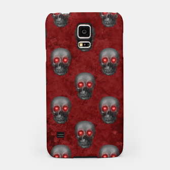 Dark Gray Skull Heart Eyes Red Watercolor Goth Romantic Samsung Case Bild der Miniatur