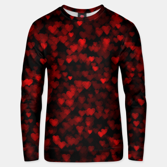 Red Hearts Blurry Vision Dark Black Romantic Love Unisex sweater Bild der Miniatur