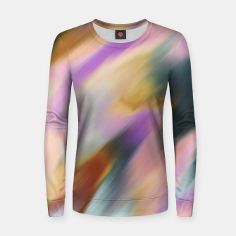 Colorful blurred brushstrokes 1 Sudadera para mujeres thumbnail image