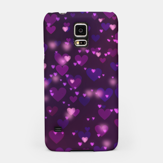 Thumbnail image of Twinkling Blurred Hearts Girly Purple Love Valentine's Day Samsung Case, Live Heroes