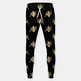 Imagen en miniatura de Golden Sitting Fairytale Fantasy Lover Butterfly Wings Sweatpants, Live Heroes