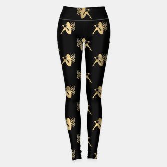 Imagen en miniatura de Golden Sitting Fairytale Fantasy Lover Butterfly Wings Leggings, Live Heroes