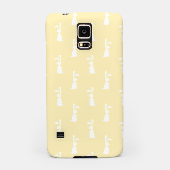 Thumbnail image of Cute White Rabbit Ears Happy Easter Spring Season  Samsung Case, Live Heroes