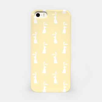 Thumbnail image of Cute White Rabbit Ears Happy Easter Spring Season  iPhone Case, Live Heroes