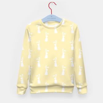 Thumbnail image of Cute White Rabbit Ears Happy Easter Spring Season  Kid's sweater, Live Heroes