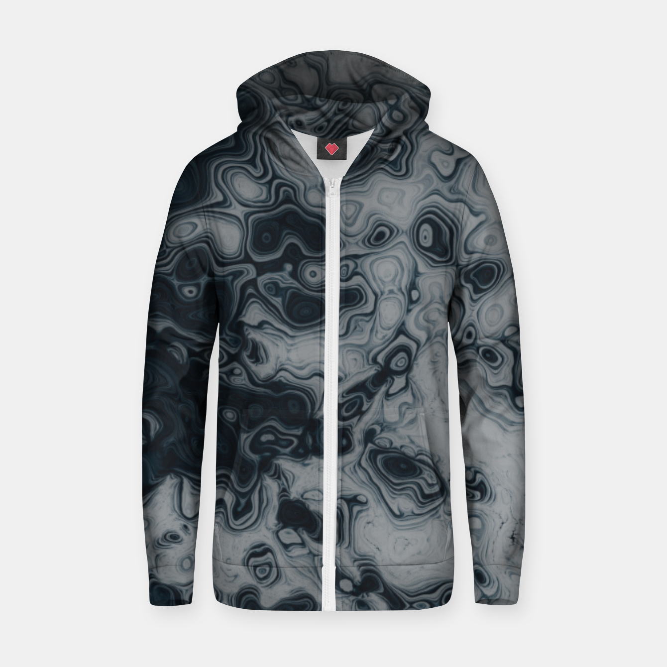 Image of Dark Matter Zip up hoodie - Live Heroes