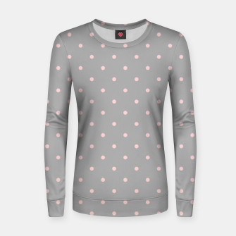 Thumbnail image of Pink Dots Girly Feminine Circles Happy Easter Gray Women sweater, Live Heroes