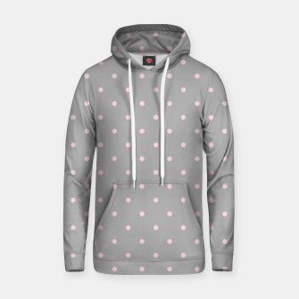 Thumbnail image of Pink Dots Girly Feminine Circles Happy Easter Gray Hoodie, Live Heroes