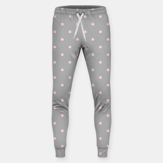 Miniaturka Pink Dots Girly Feminine Circles Happy Easter Gray Sweatpants, Live Heroes