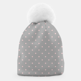 Miniaturka Pink Dots Girly Feminine Circles Happy Easter Gray Beanie, Live Heroes