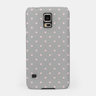 Miniaturka Pink Dots Girly Feminine Circles Happy Easter Gray Samsung Case, Live Heroes