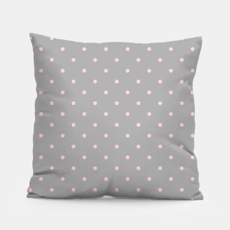 Miniaturka Pink Dots Girly Feminine Circles Happy Easter Gray Pillow, Live Heroes