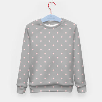 Miniaturka Pink Dots Girly Feminine Circles Happy Easter Gray Kid's sweater, Live Heroes