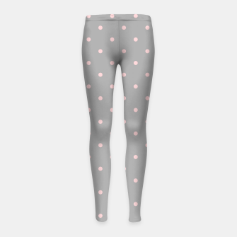 Miniaturka Pink Dots Girly Feminine Circles Happy Easter Gray Girl's leggings, Live Heroes