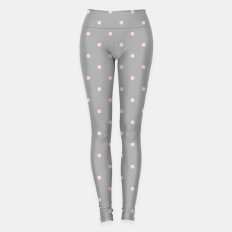 Miniaturka Pink Dots Girly Feminine Circles Happy Easter Gray Leggings, Live Heroes