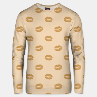 Thumbnail image of Golden Lips Pastel Orange Sensual Mouth Girly Kisses Unisex sweater, Live Heroes