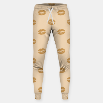 Thumbnail image of Golden Lips Pastel Orange Sensual Mouth Girly Kisses Sweatpants, Live Heroes