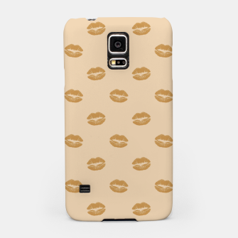 Thumbnail image of Golden Lips Pastel Orange Sensual Mouth Girly Kisses Samsung Case, Live Heroes
