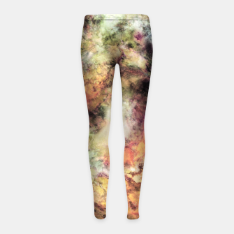 Thumbnail image of See the warm storm Girl's leggings, Live Heroes