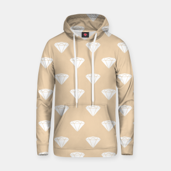 Thumbnail image of White Diamond Shape Pastel Orange Luxury Jewel Hoodie, Live Heroes