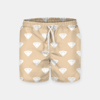 Miniaturka White Diamond Shape Pastel Orange Luxury Jewel Swim Shorts, Live Heroes