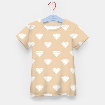 Thumbnail image of White Diamond Shape Pastel Orange Luxury Jewel Kid's t-shirt, Live Heroes
