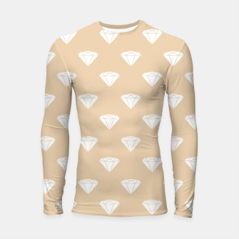 Thumbnail image of White Diamond Shape Pastel Orange Luxury Jewel Longsleeve rashguard , Live Heroes