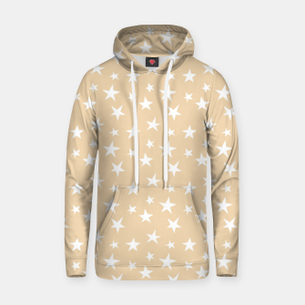 Thumbnail image of White Stars Pastel Orange Starry Sky Astrology Astronomy Hoodie, Live Heroes