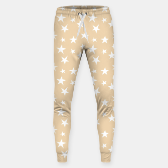 Thumbnail image of White Stars Pastel Orange Starry Sky Astrology Astronomy Sweatpants, Live Heroes