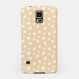 Thumbnail image of White Stars Pastel Orange Starry Sky Astrology Astronomy Samsung Case, Live Heroes