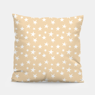 Thumbnail image of White Stars Pastel Orange Starry Sky Astrology Astronomy Pillow, Live Heroes